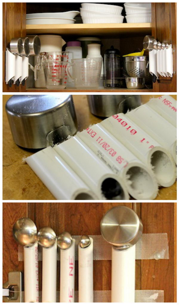 PVC Pipe Kitchen Tool Organizer.