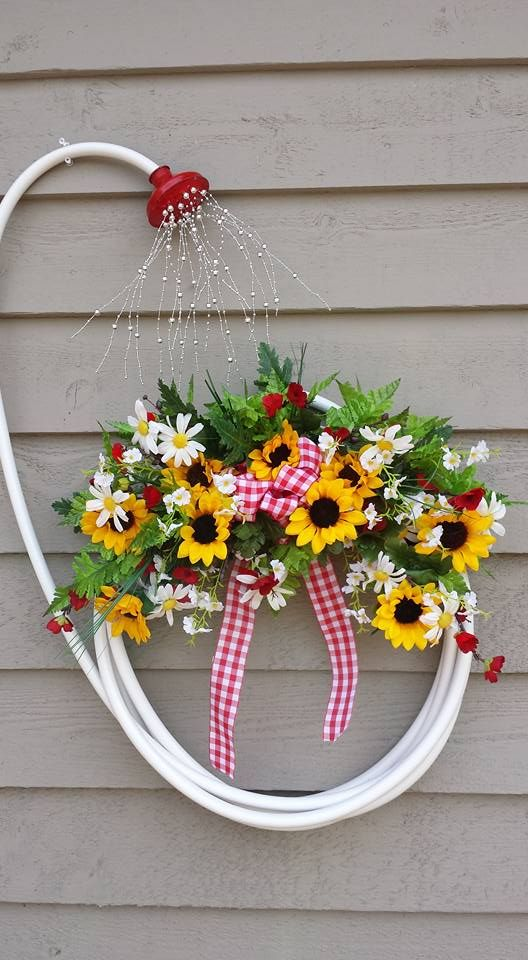 DIY Garden Hose Wreath.