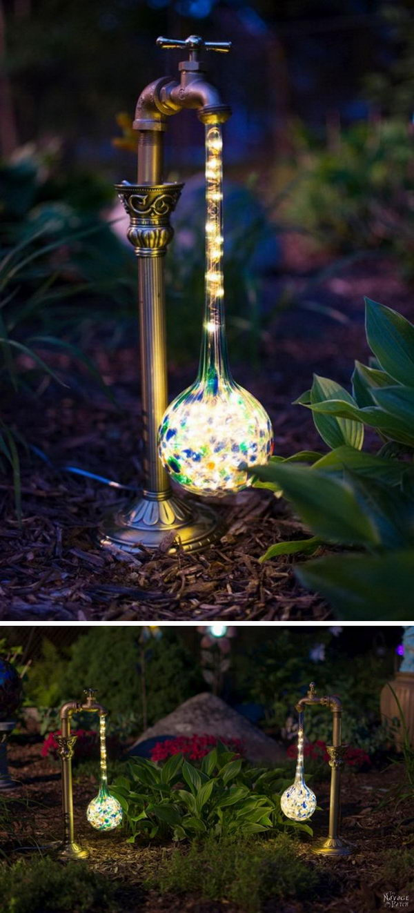 DIY Waterdrop Solar Lights.