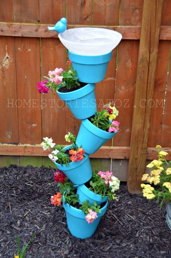 DIY Garden Planter & Birds Bath.