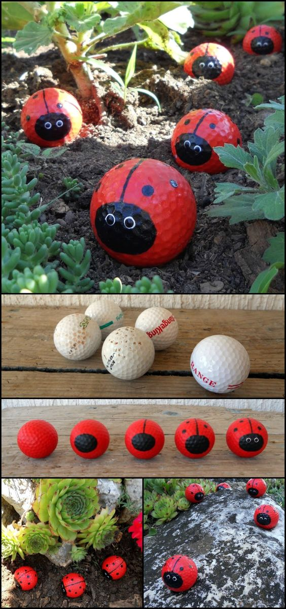 Golf Ball Ladybugs.