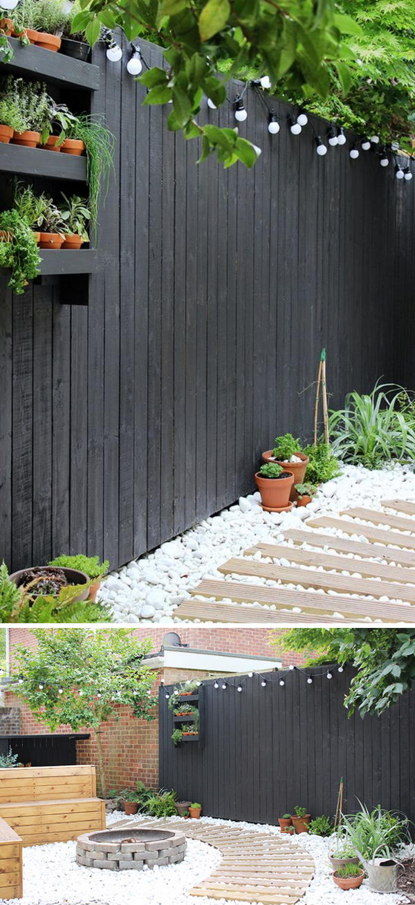 Have a Clean and Inviting Look with White Gravel in Your Backyard.