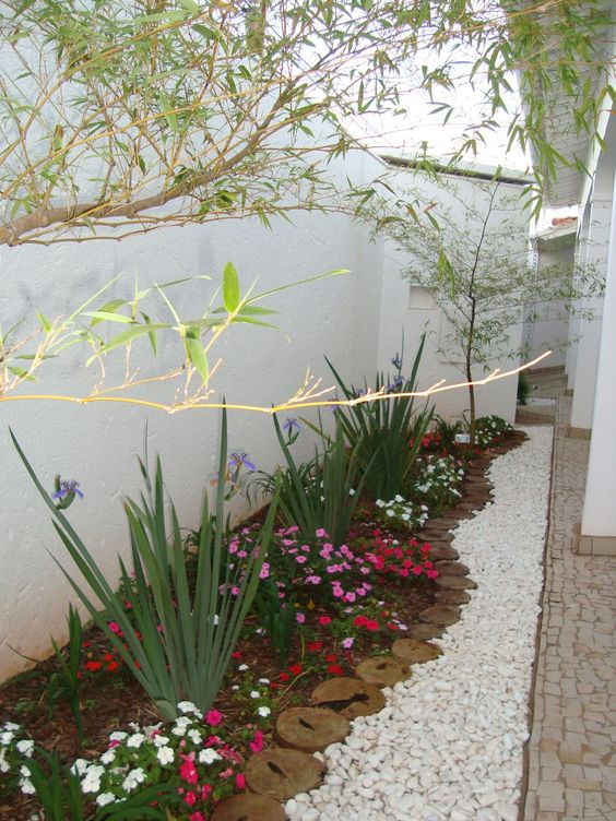 Edge Your Flower Garden Beds with Gravel.