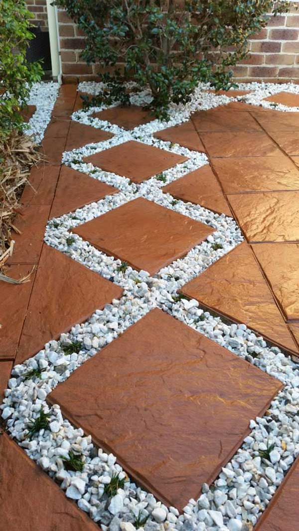Design a Pathway with White Gravel.