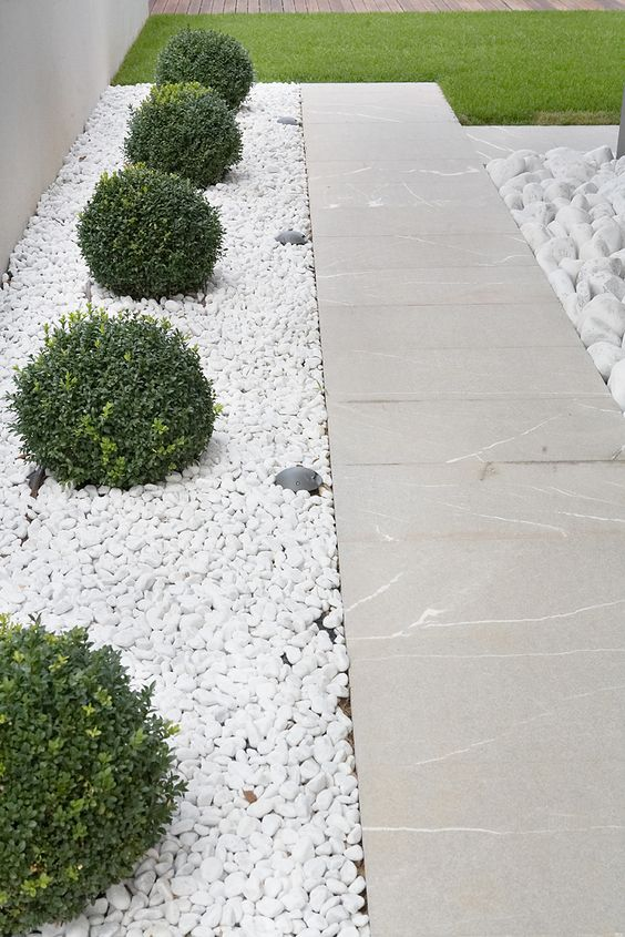 Enhance the Beauty of Your Garden with White Gravel.