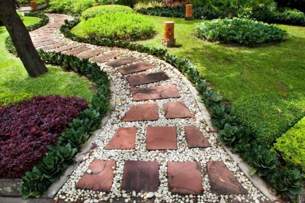 Create a Simple Pathway with White Gravel.