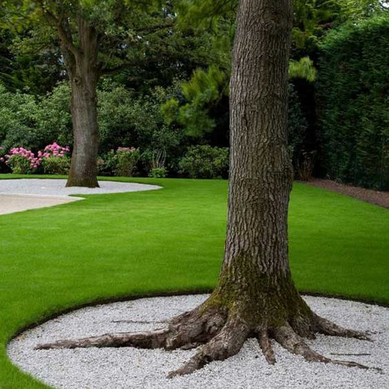 12 Amazing Ideas For Flower Beds Around Trees: 30+ Cool Ideas To Decorate Your Home With White Gravel 2017