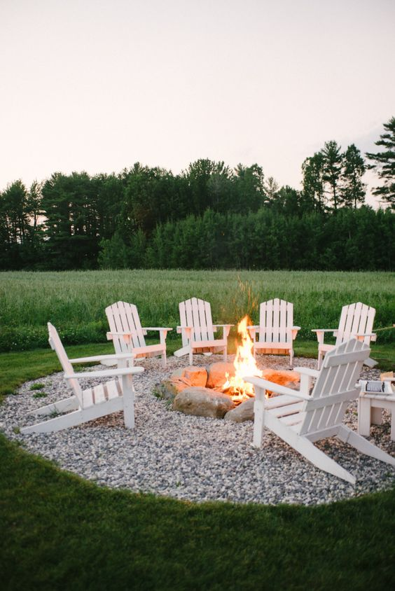 Design a Gravel Fire Pit Area.