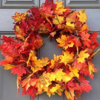 30 Easy DIY Thanksgiving Door Decorations