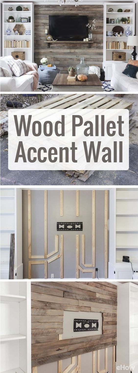 Wood Pallet Accent Wall.