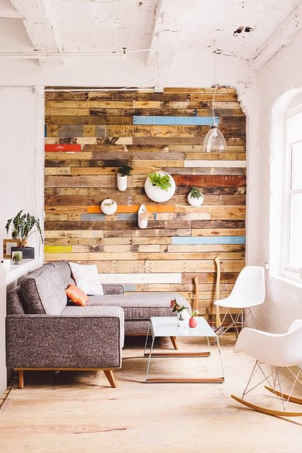 Reclaimed Wood Accent Wall.