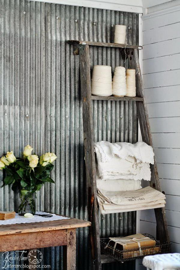 DIY Rustic Tin Wall.
