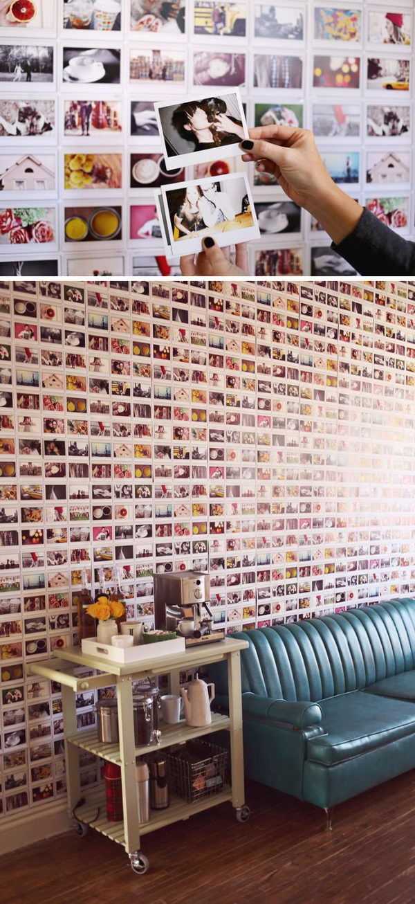 DIY Instax Wallpaper.