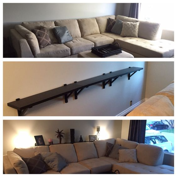 Thin Table Behind Couch.
