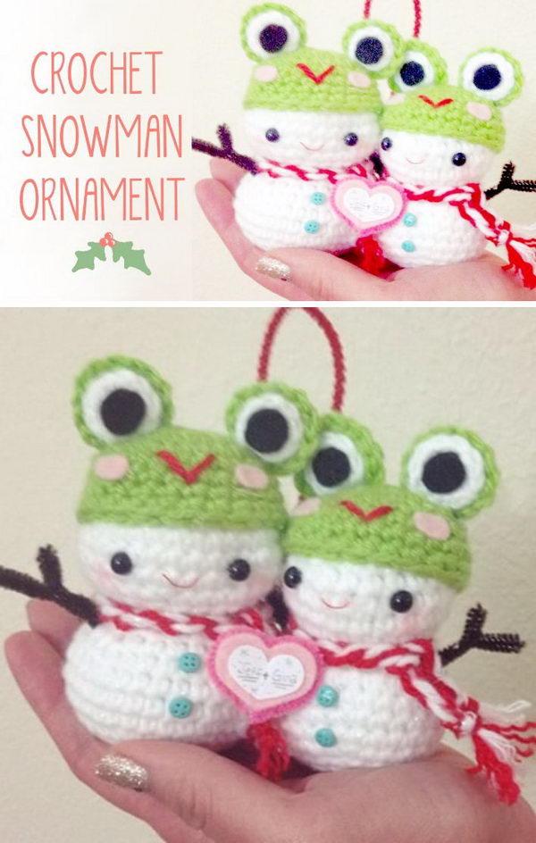 Christmas Crochet Snowman Amigurumi  Video Tutorial.