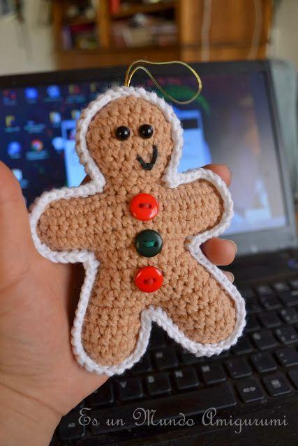 Crochet Gingerbread Man Free Pattern.