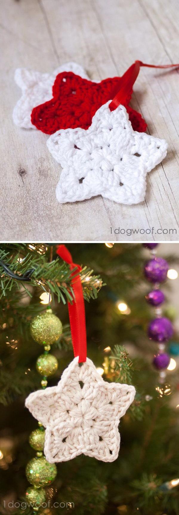 Crochet Star Ornament Pattern.