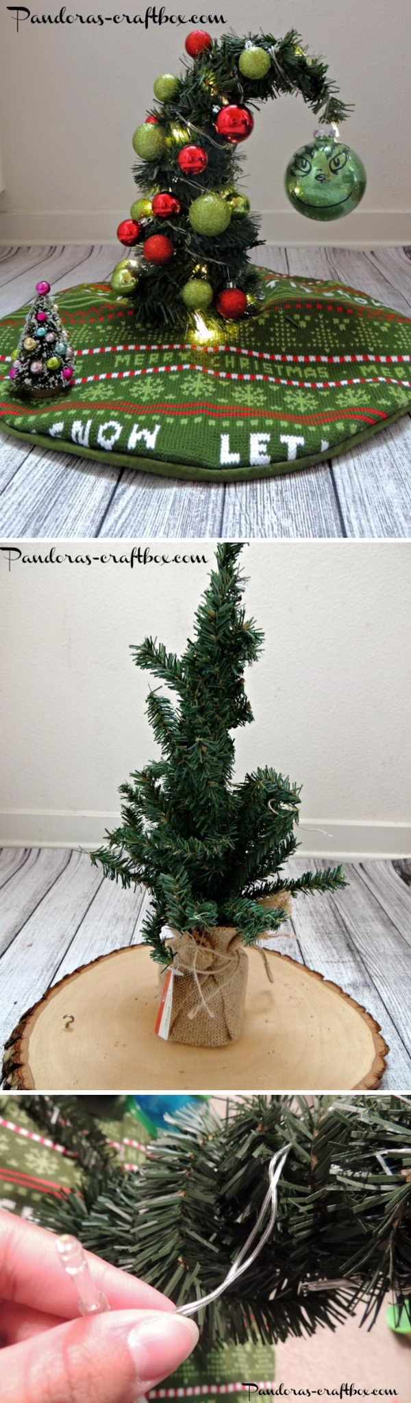 DIY Grinch Christmas Tree.