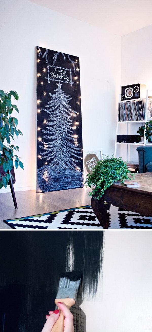 DIY Minimal Chalkboard Tree.
