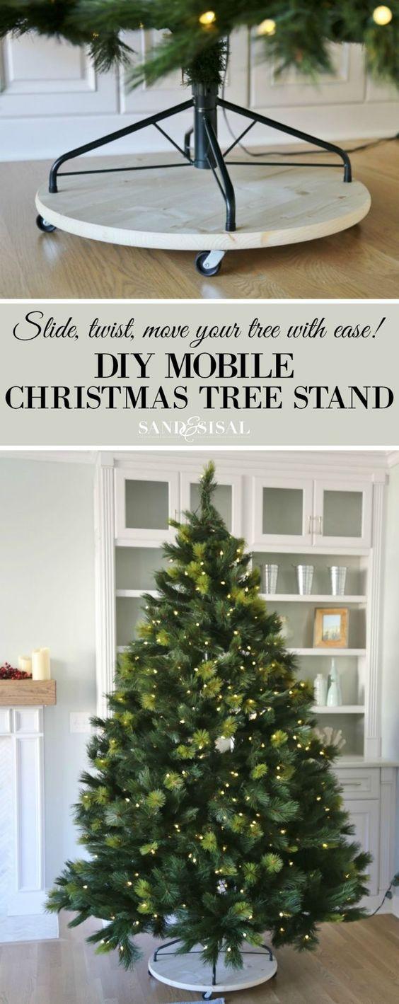 DIY Mobile Christmas Tree Stand.