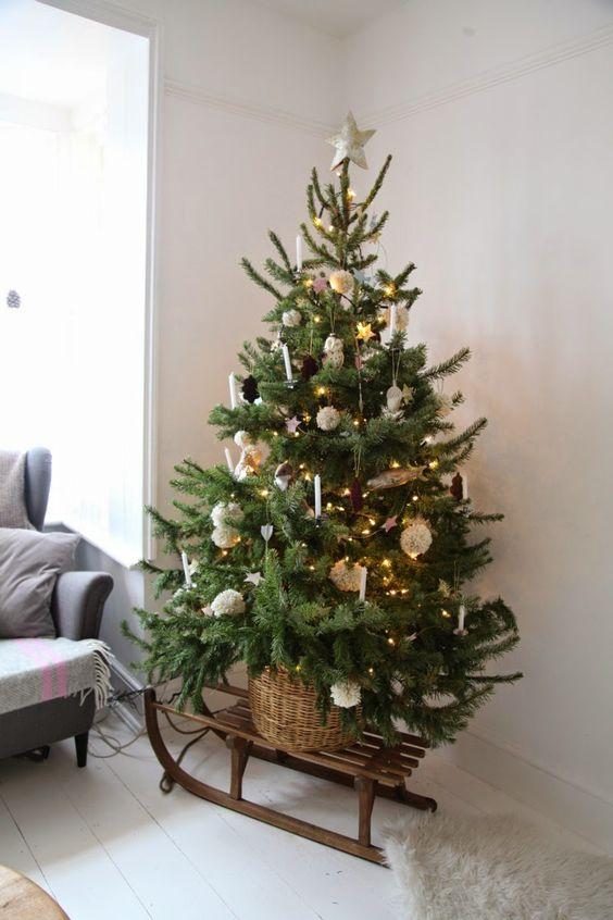 Christmas Tree On A Sleigh.