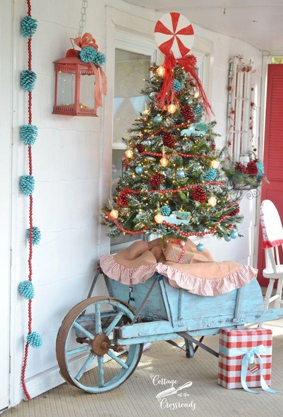 DIY Wheelbarrow Christmas Tree Stand.