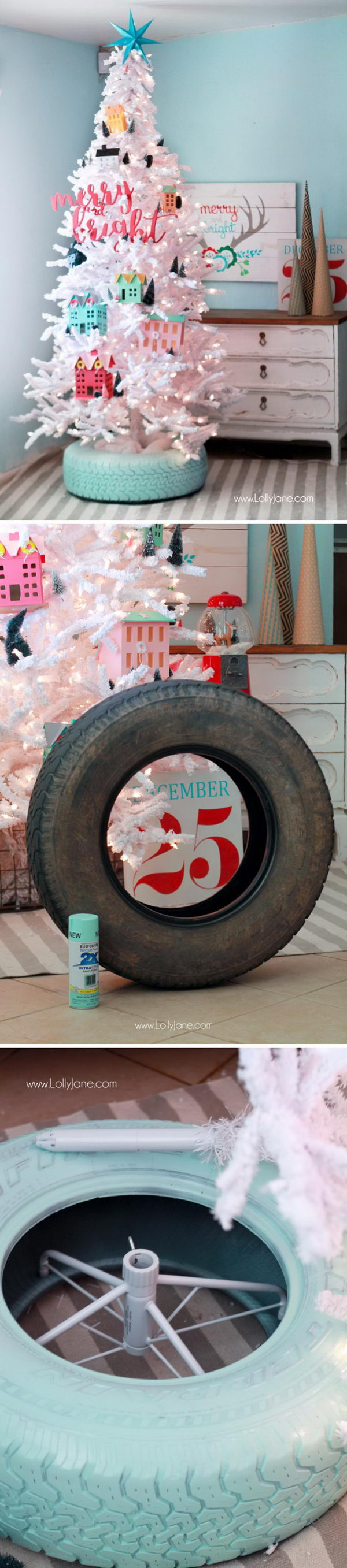 Recycled Tire Christmas Tree Base.