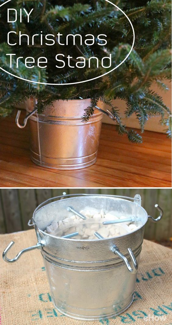 Galvanized Bucket Christmas Tree Stand.