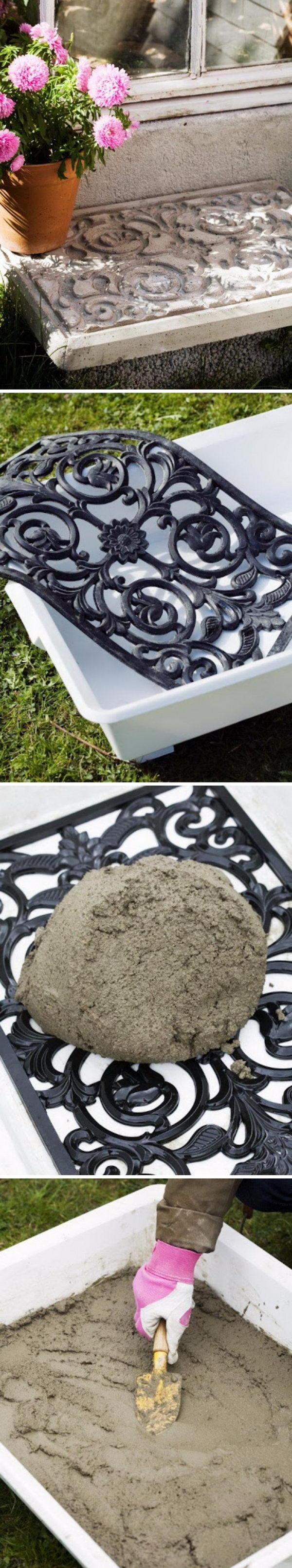 DIY Decorative Concrete Slab.