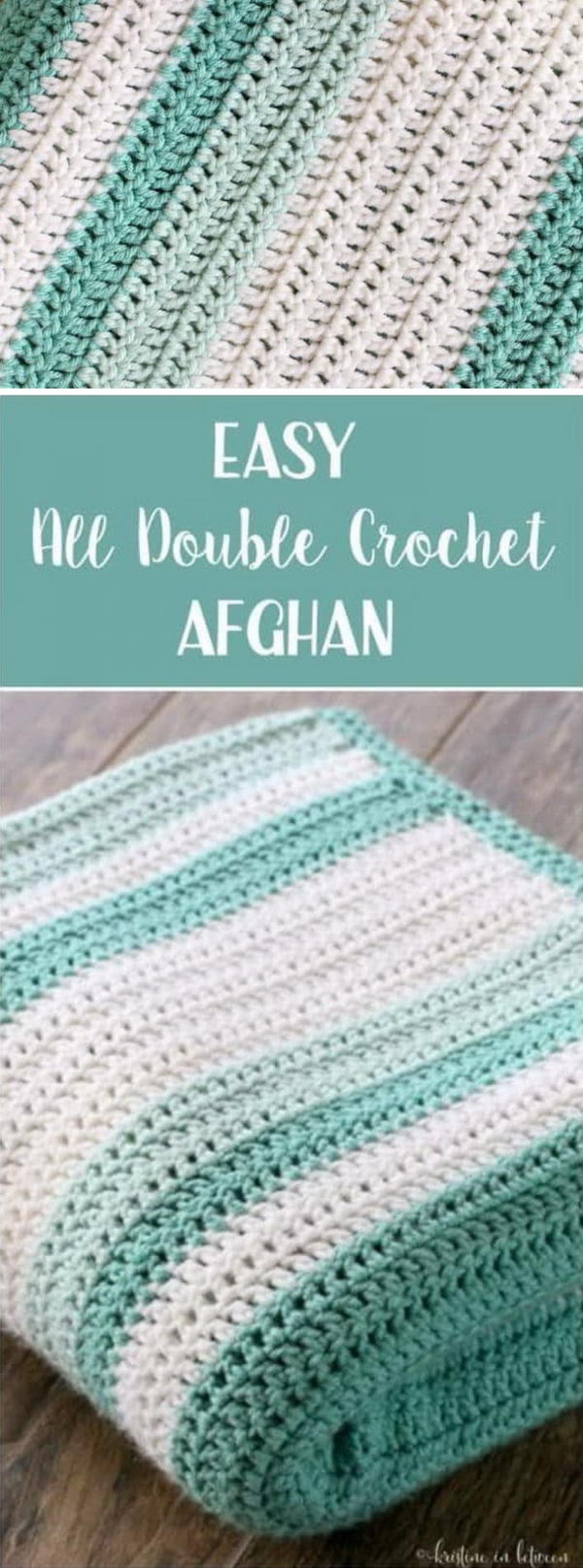 Simple Beginner Afghan With All Double Crochet Stitches.