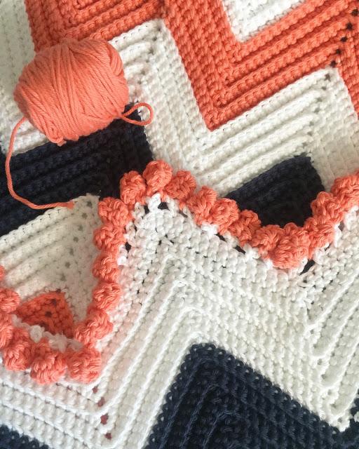 Single Crochet Chevron Baby Blanket Free Pattern.