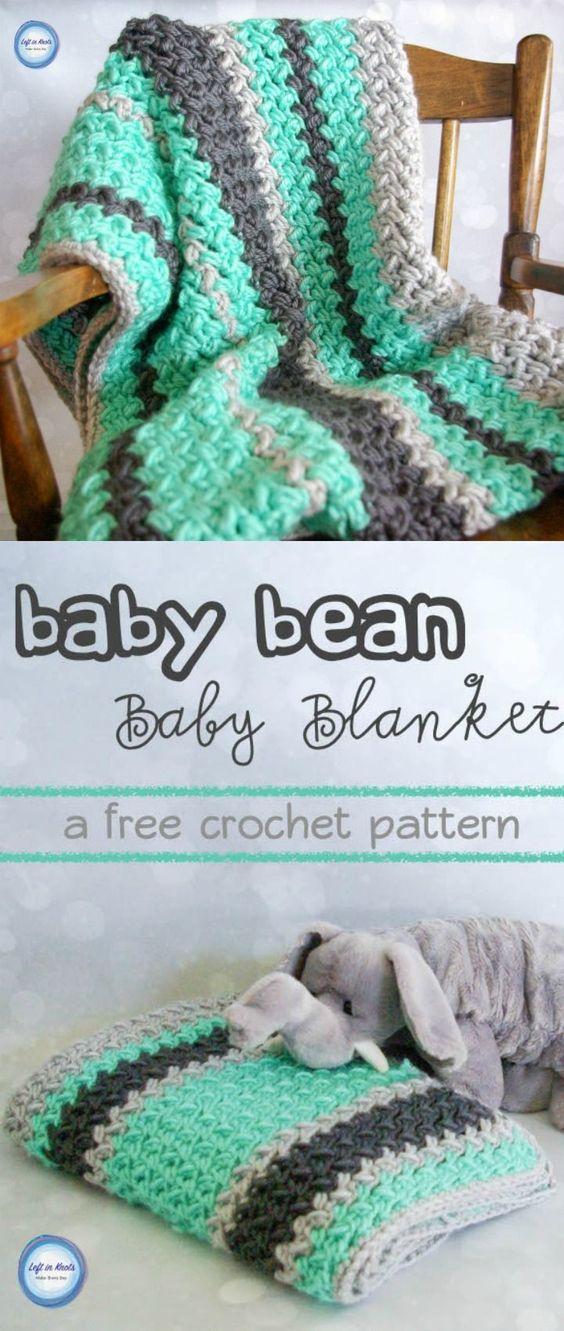 Baby Bean Baby Blanket Free Pattern.