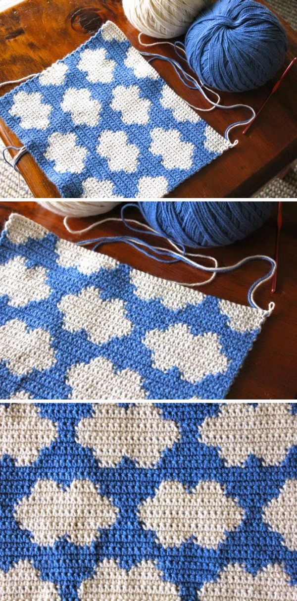 Tapestry Crochet Clouds.