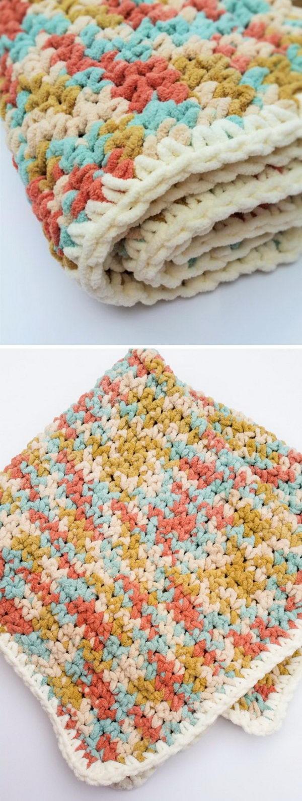 Easy Crochet Baby Blanket Free Pattern.