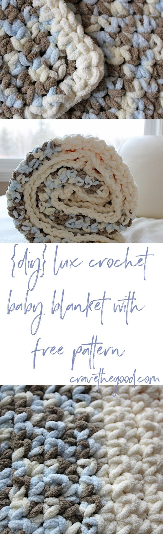 Lux Crochet Baby Blanket With Free Pattern.