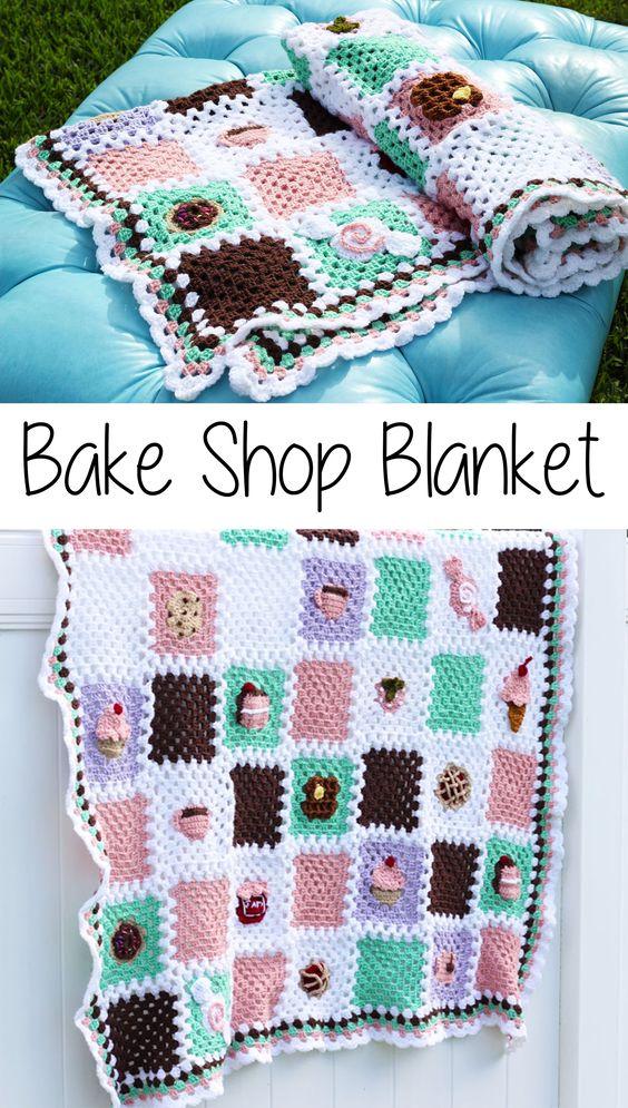 Bake Shop Blanket Free Crochet Pattern.