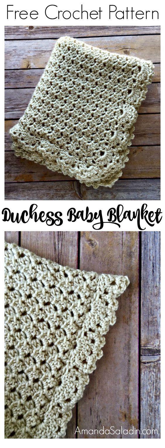 Duchess Baby Blanket Free Crochet Pattern.