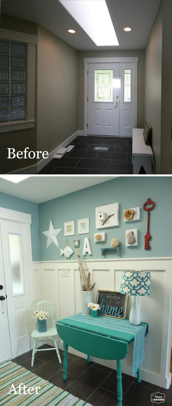 Big Reveal: Blue Entryway Makeover.