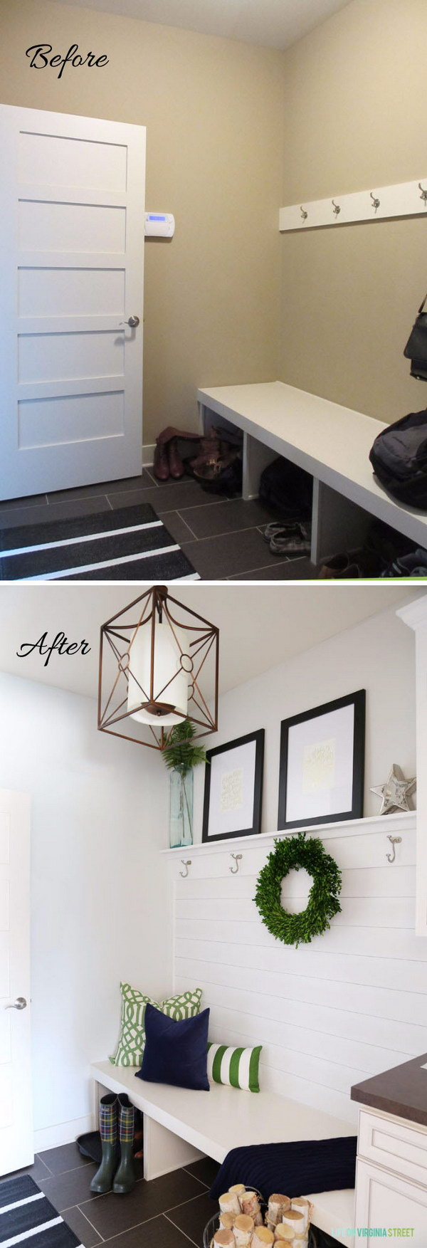 Blank Entryway Gets a Bright, Easy Makeover.