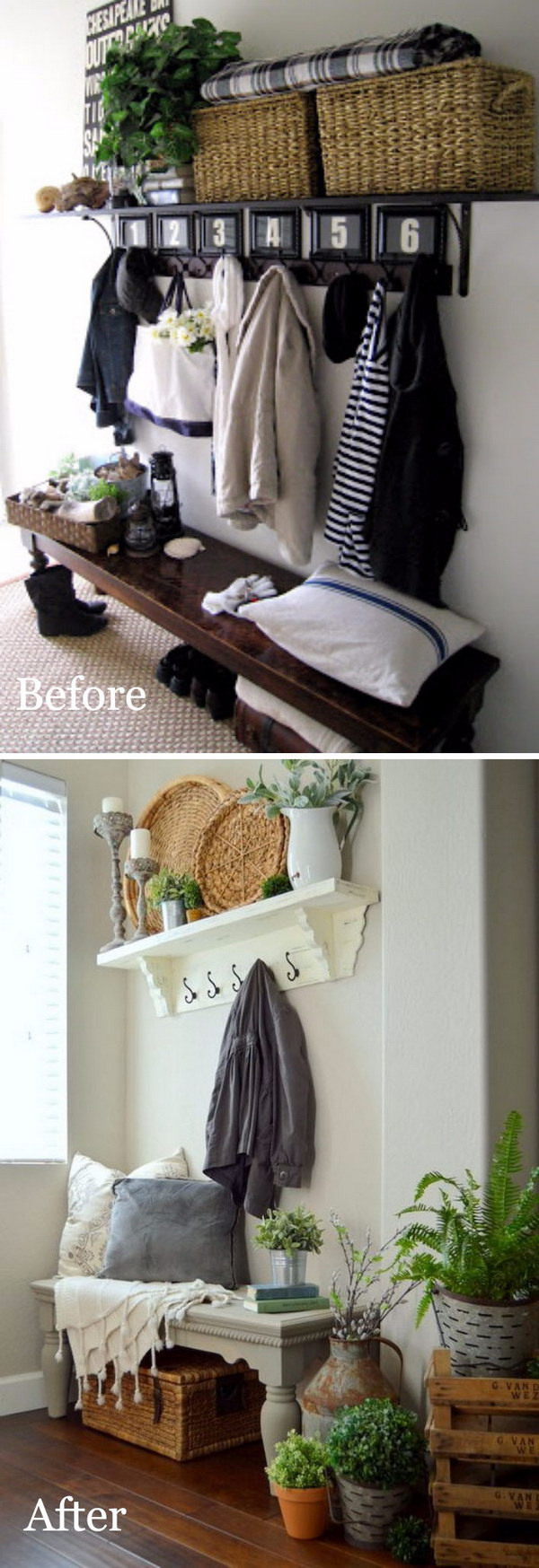 Rustic Chic Entryway Reveal.