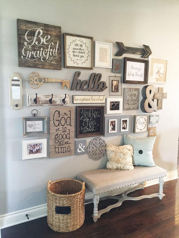 DIY Entryway Gallery Wall.