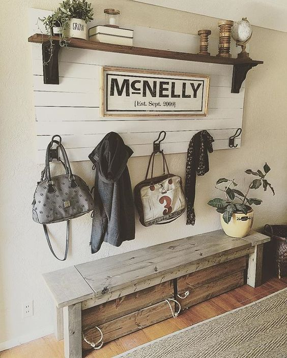 Entryway Bench And Coat Rack.