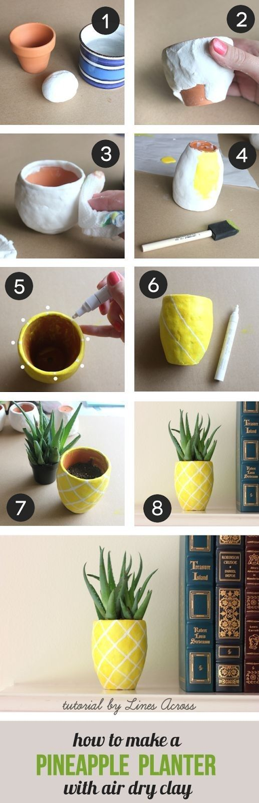 DIY Cute Succulent Pineapple Planter