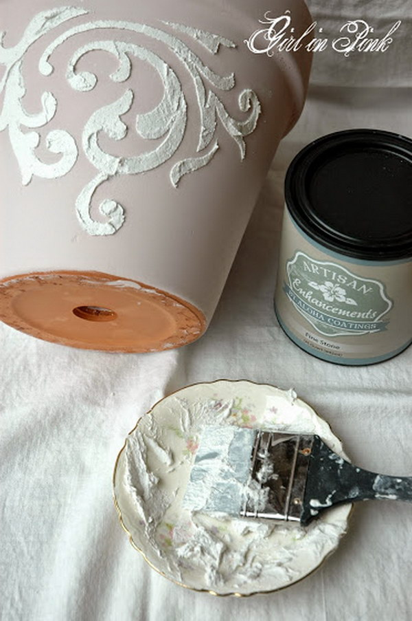 DIY Shabby Chic Flower Pot