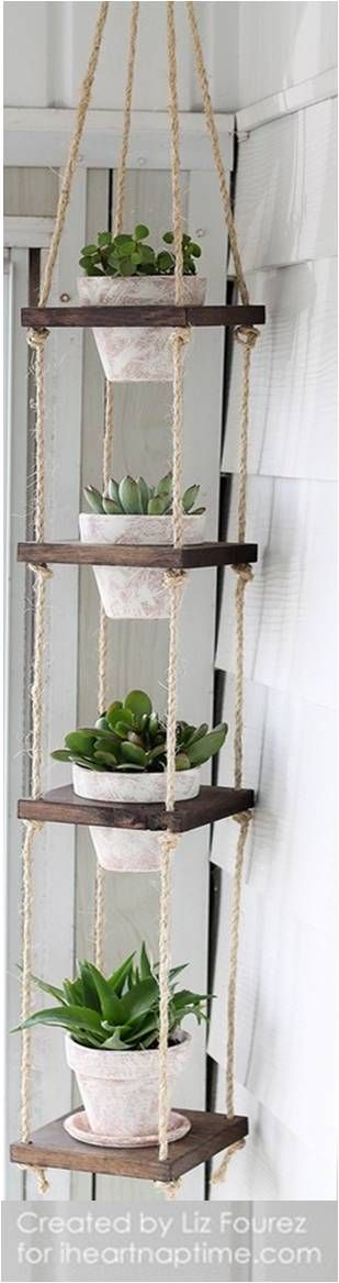 DIY Hanging Flower Pots.