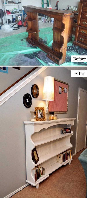 Dresser Hutch Turned Shelf.