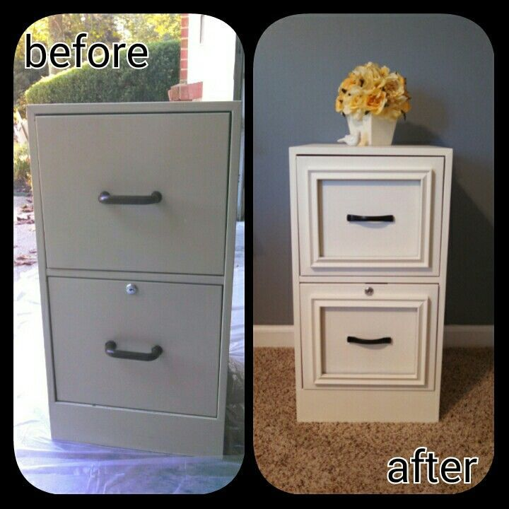DIY Expensive Looking Night Stand from a Filing Cabinet.