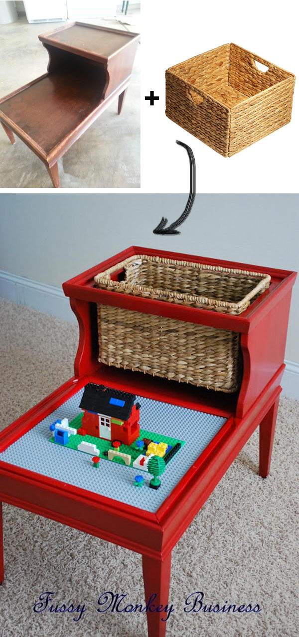 DIY Lego Table Made out of an Old Table.