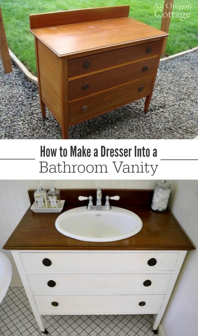 Transform A Dresser Into A Vanity.