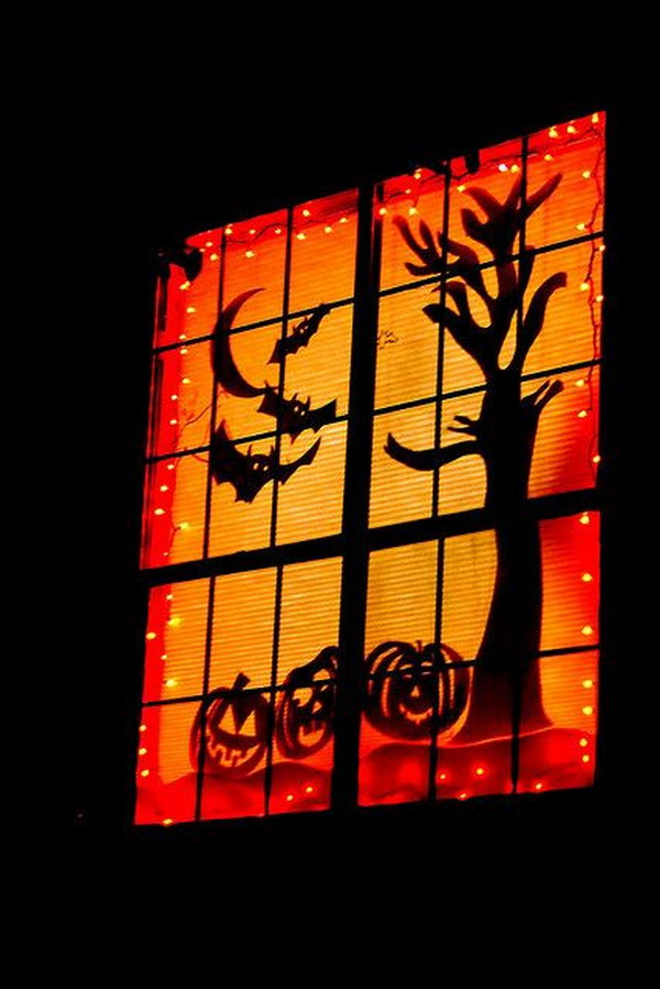 Spooky Halloween Window.
